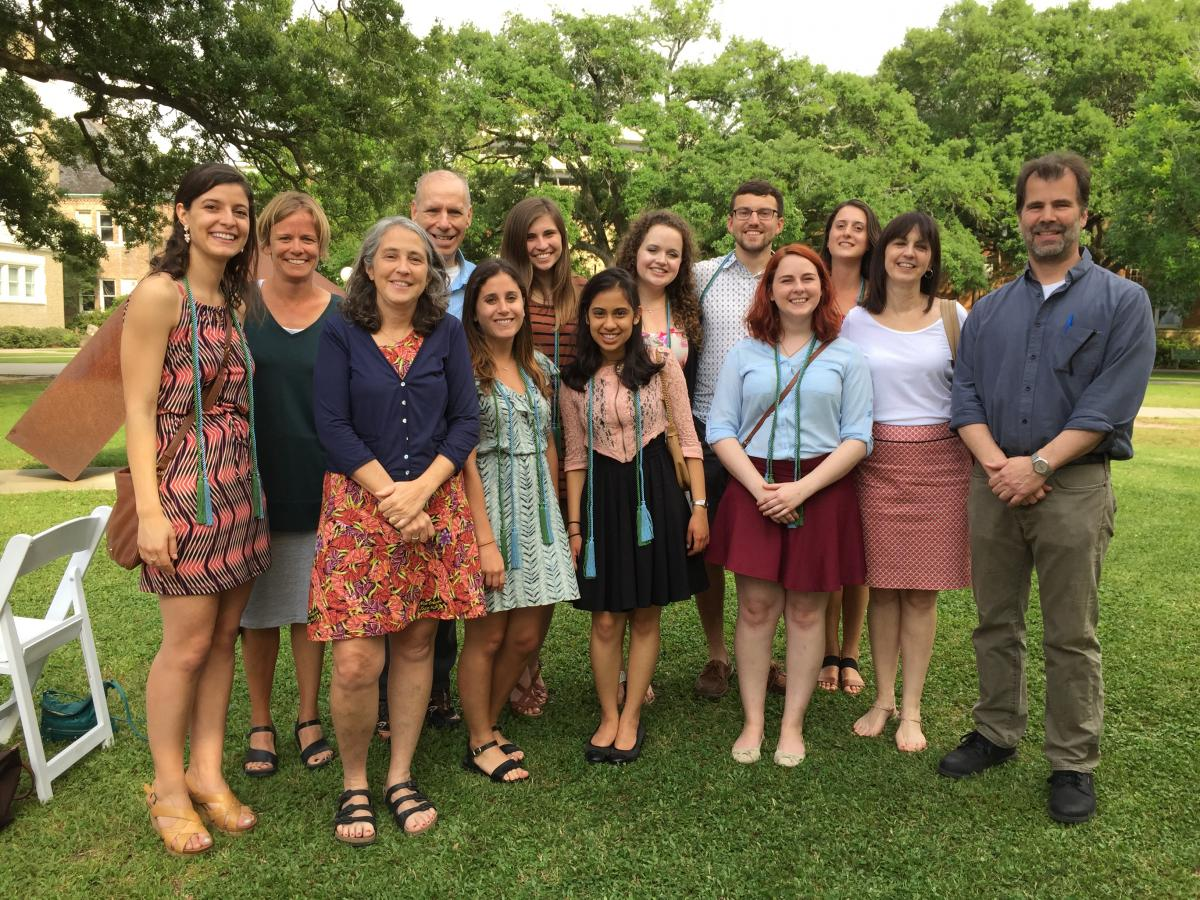 Neuroscience honors students & faculty May 2016