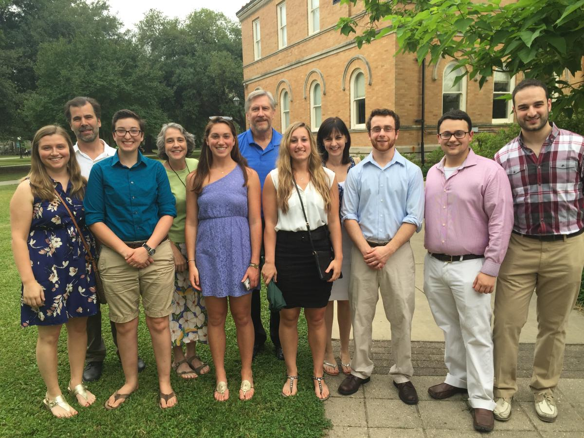 Neuroscience honors students and faculty May 2015